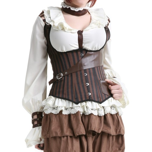 CORSET RAYAS BLACK/BROWN