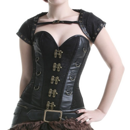 Black Corset with Fanny Pack