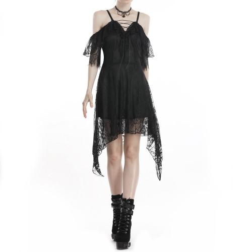 Short Dress with Lace