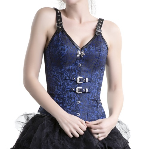 Blue Corset with Straps