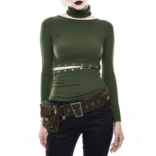 Green T-Shrit Made of Two Pieces