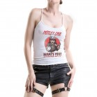 White Rolling Stones Top