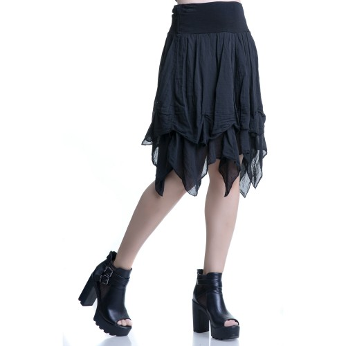 Black Skirt with Peaks